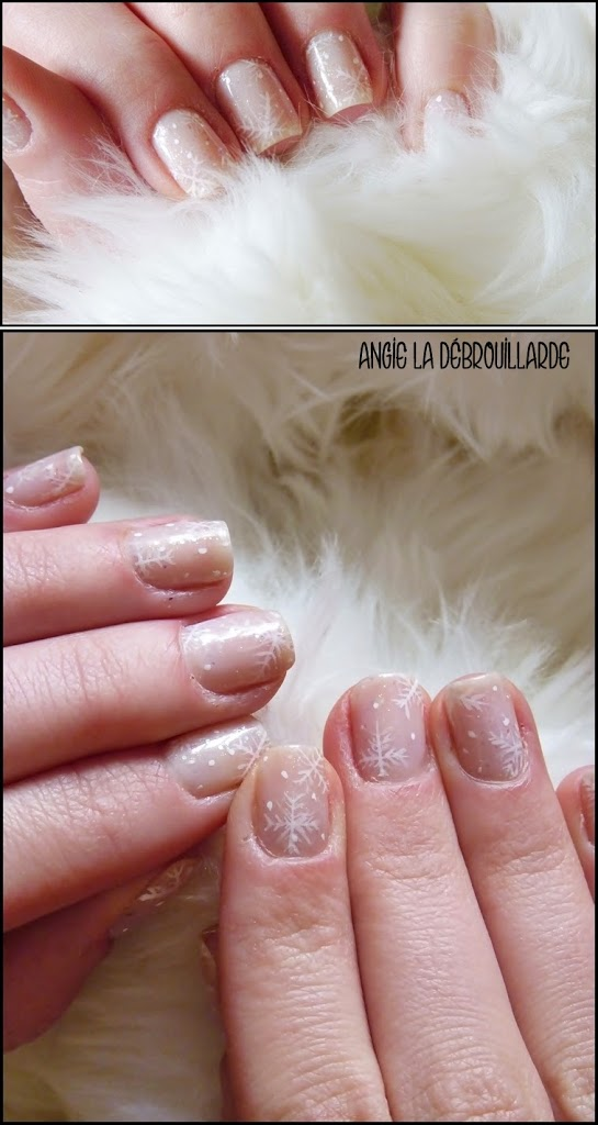 Idee Nail Art Noël Flocon de neige