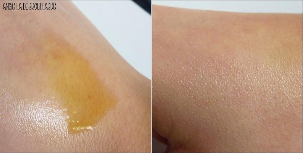 Texture de l'huile