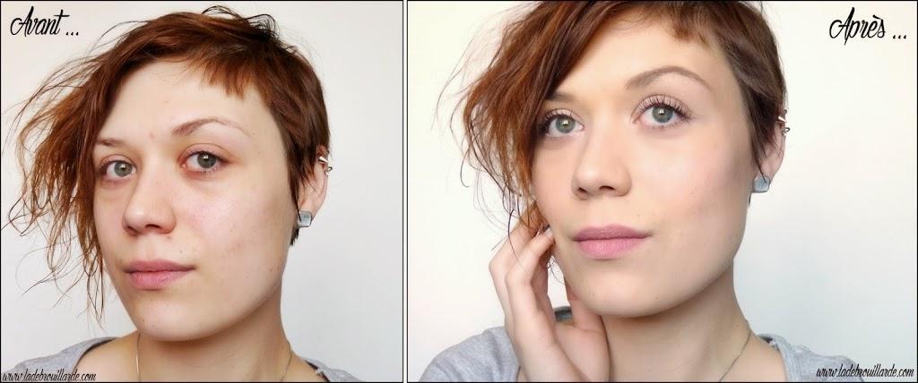 Maquillage léger & lumineux - Avant/Après