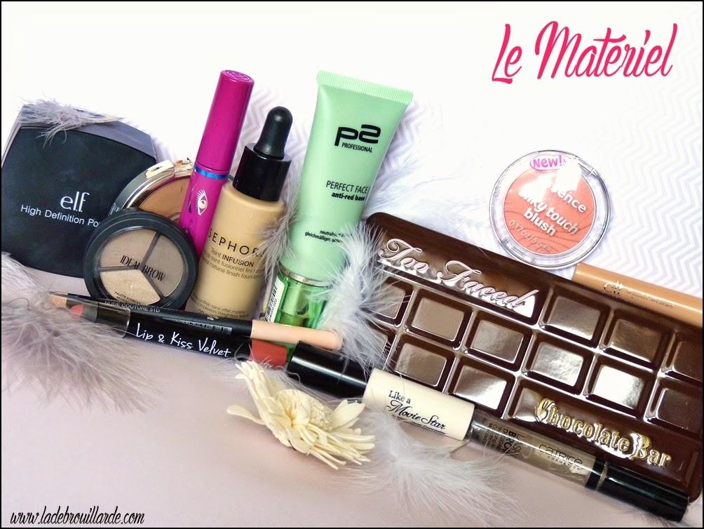 Tuto Maquillage léger et lumineux - matériel