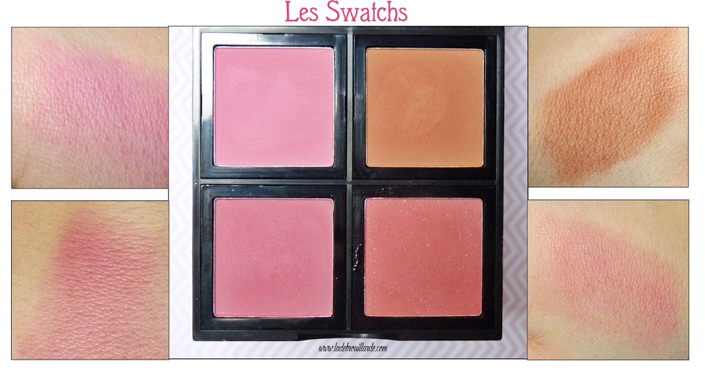 Revue Makeup Palette Blush ELF - Swatch
