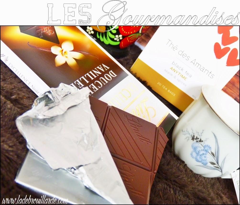 Favoris de Mars - Gourmandise - Chocolat noir Lindt et Thé des Amants