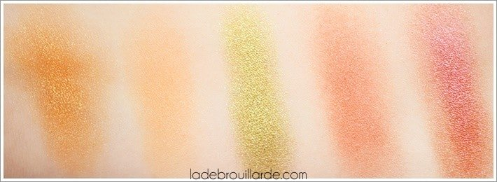 Swatch eyeshadow Nabla make up