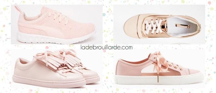 Sneaker printemps rose