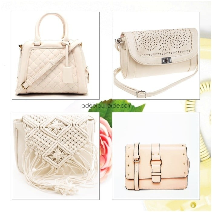 Sac blanc mode printemps 2016