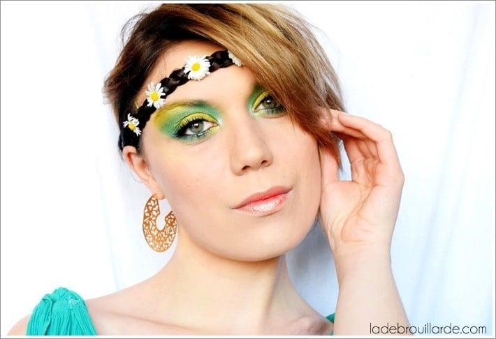 maquillage émeraude monday sahdow challenge