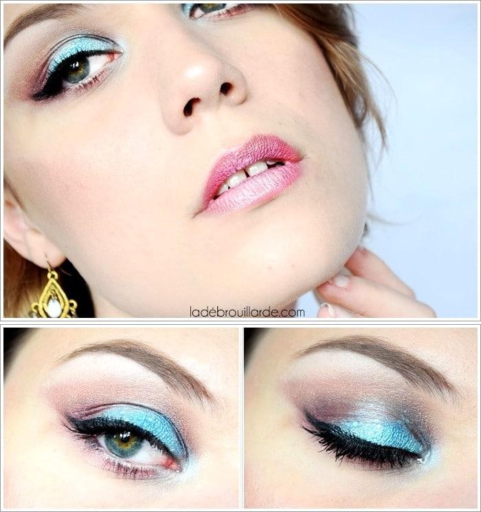 maquillage turquoise été couleur