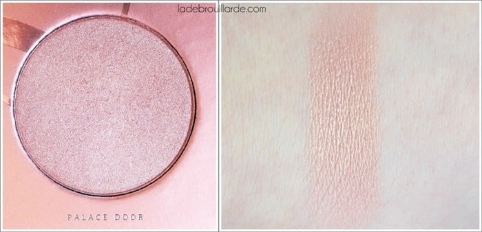 palace door swatch rose golden zoeva