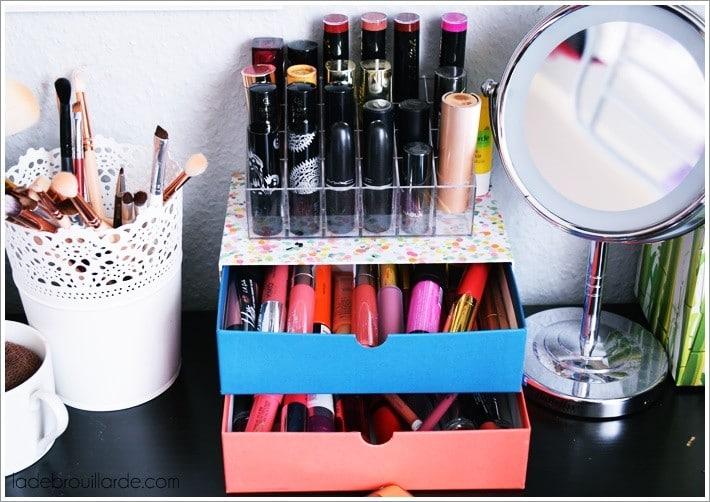 Comment Organiser Son Rangement Maquillage à Petit Prix Diy