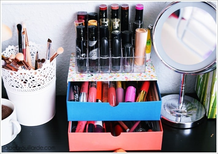 Astuce Rangement Maquillage #14: Rangement Maquillage Astuce