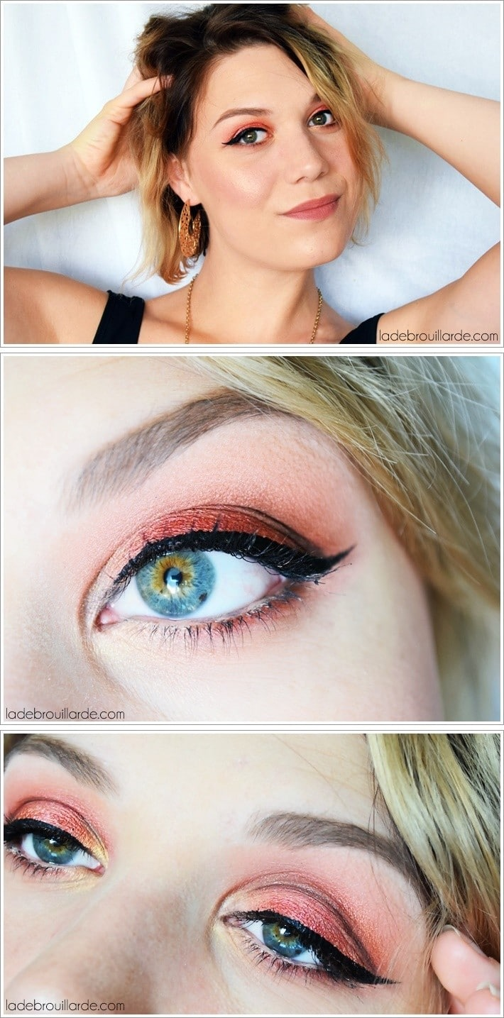 maquillage coloré rouge