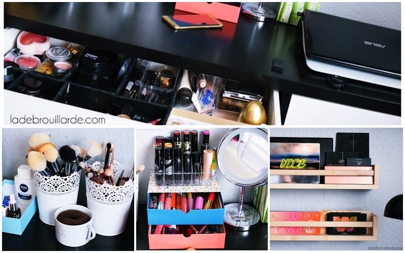 comment organiser son rangement maquillage petit prix diy. Black Bedroom Furniture Sets. Home Design Ideas