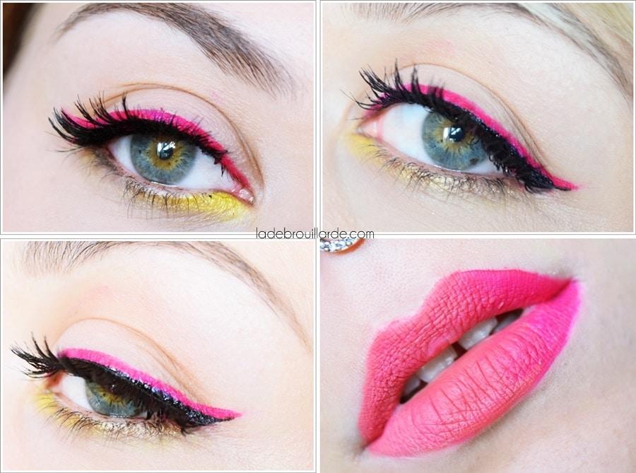Make up double eye liner fuchsia summer