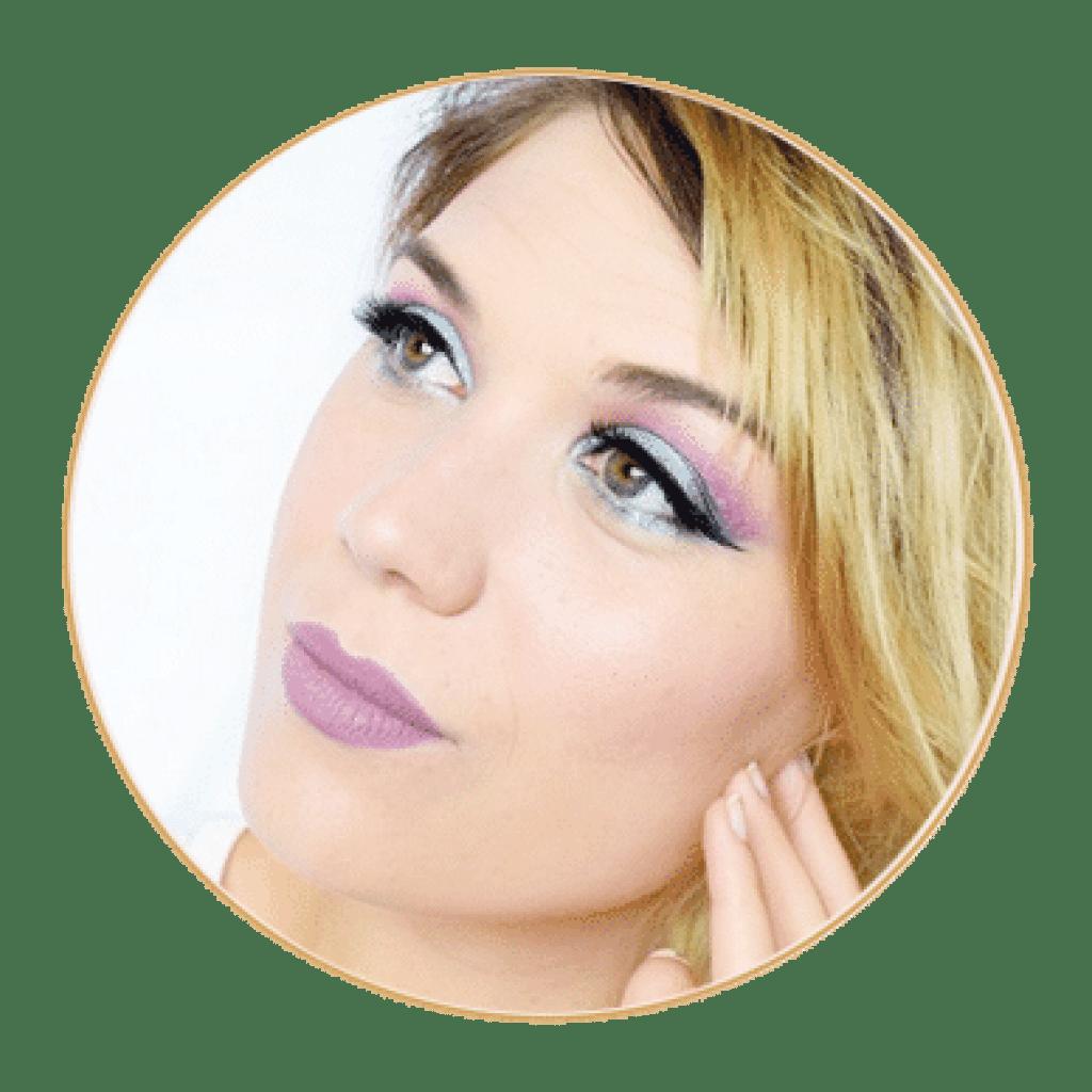 make up smoky eye violet bleu