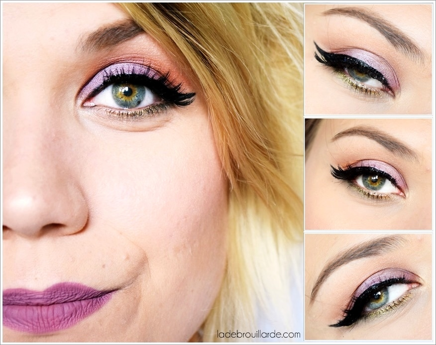 tuto make up facile mauve