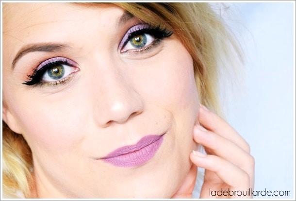 Maquillage mauve pastel