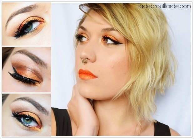 Make up Tangerine Smoky eye