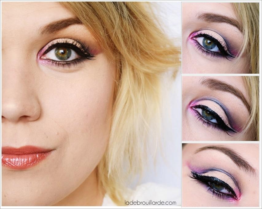 Maquillage de soirée gris tutoriel maquillage