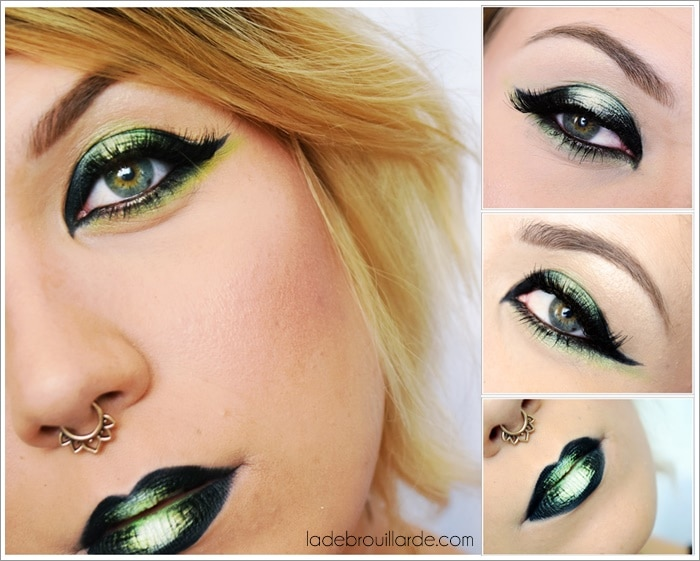 Maquillage eye liner vert eau