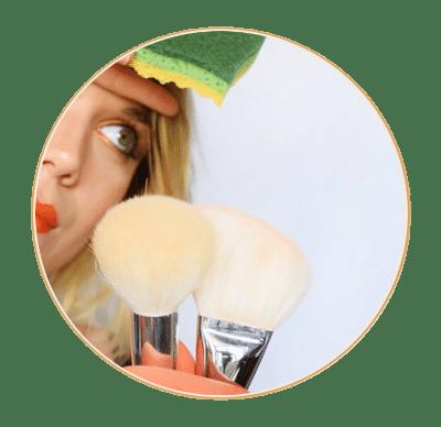 astuce nettoyage pinceau make up