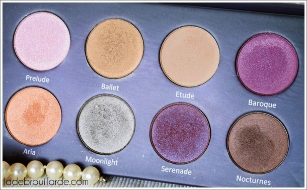 colors and make up maquillage palette serenade nouveauté