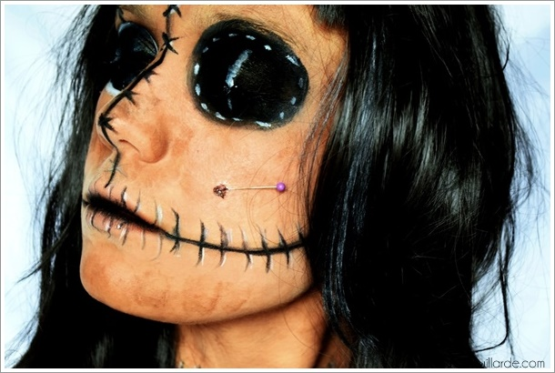 poupée vodoo tutoriel maquillage facile halloween