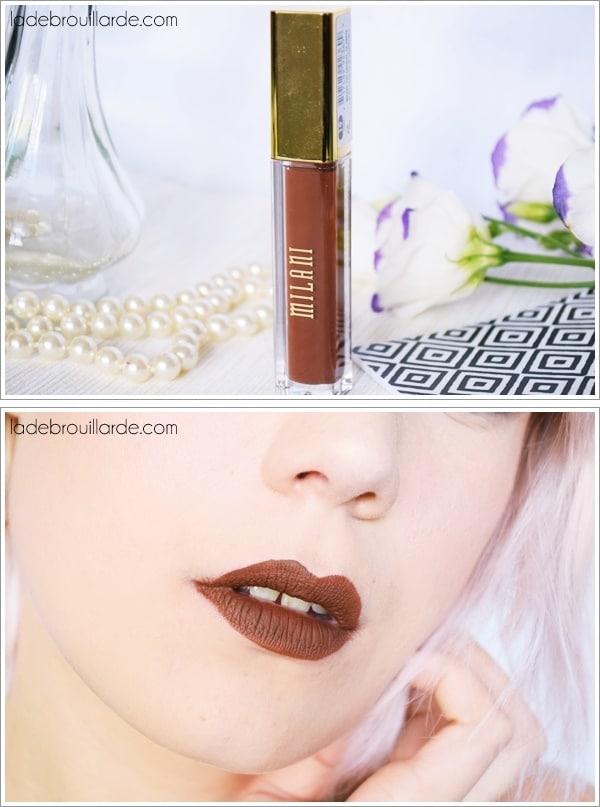 covet milani marron foncé swatch rouge à lèvre automne hiver