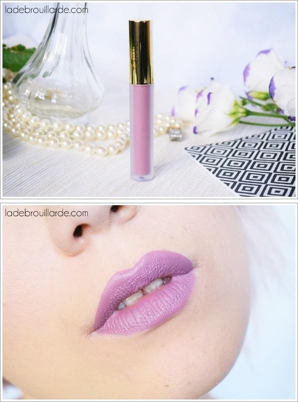 Ecstasy gerard cosmetics swatch lavande violet rouge à lèvre automne hiver