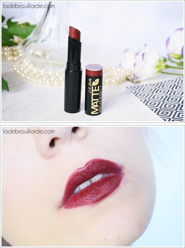 Raleway LA Girl swatch rouge cerise rouge à lèvre automne hiver