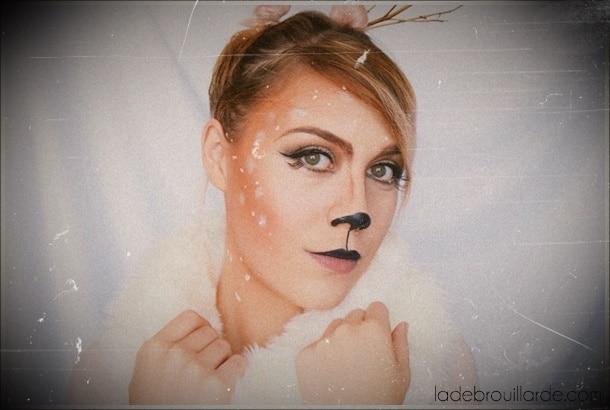 maquillage halloween biche faon carnaval tutoriel