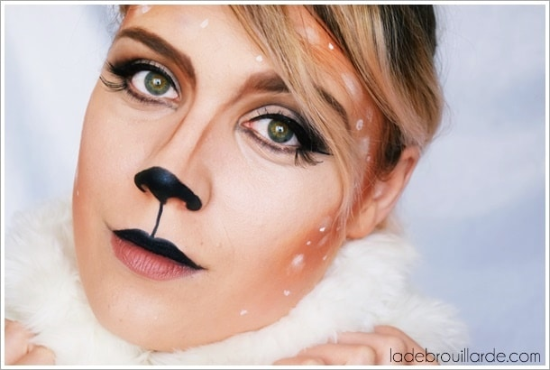 maquillage halloween tutoriel biche