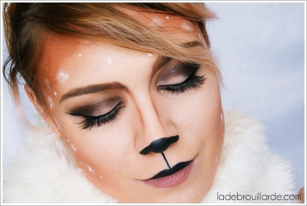 tutoriel maquillage halloween glamour biche
