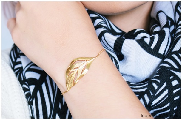 Bracelet feuille automne poisson plume made in france