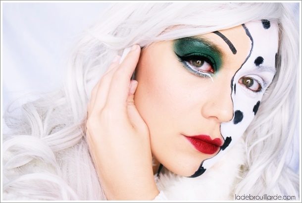 Cruella d'enfer maquillage glamour halloween disney