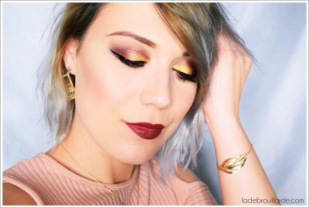 maquillage yeux vert soirée gold tutoriel