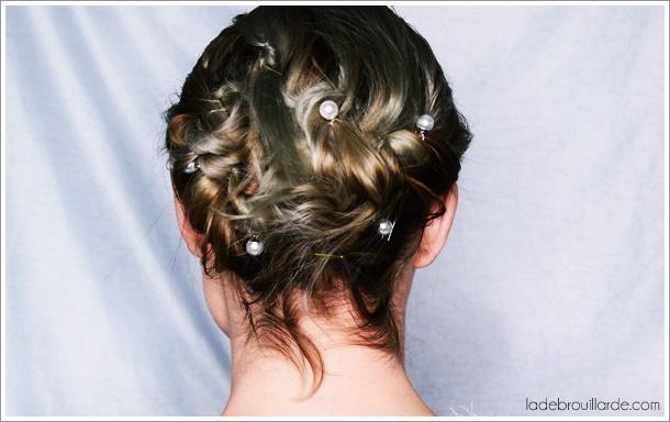 DIY coiffure cheveux court soirée noel