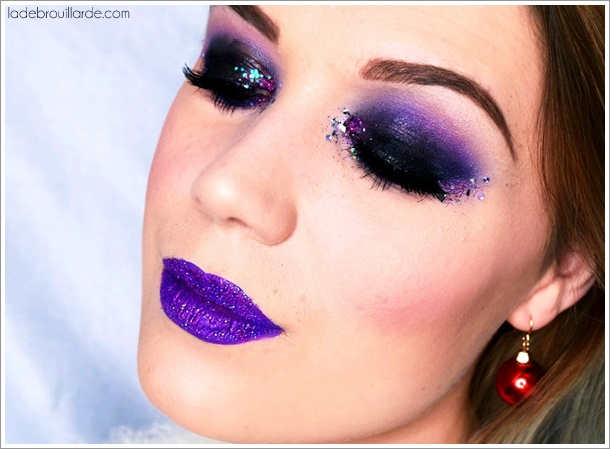 dark purple smoky eye charbonneux noir violet tutoriel maquillage la d brouillarde. Black Bedroom Furniture Sets. Home Design Ideas