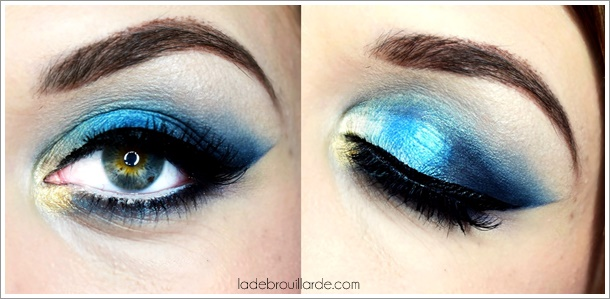 tutoriel maquillage bleu yeux smoky eye make up