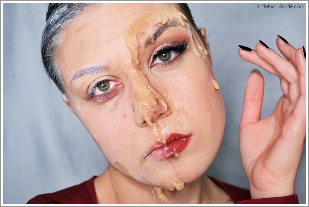maquillage artistique vieux jeune