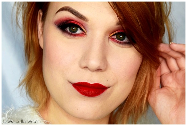 maquillage rouge fard à paupière smoky eye tuto
