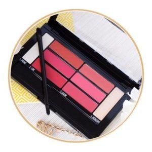 palette lip contour Maybelline revue swatch démo2
