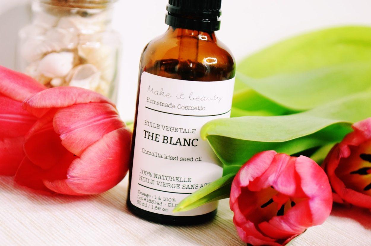 huile vegetale the blanc