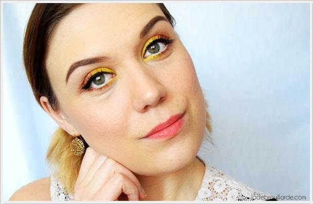 maquillage jaune facile à faire pour tous les jours