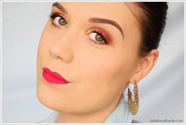maquillage magenta quotidien