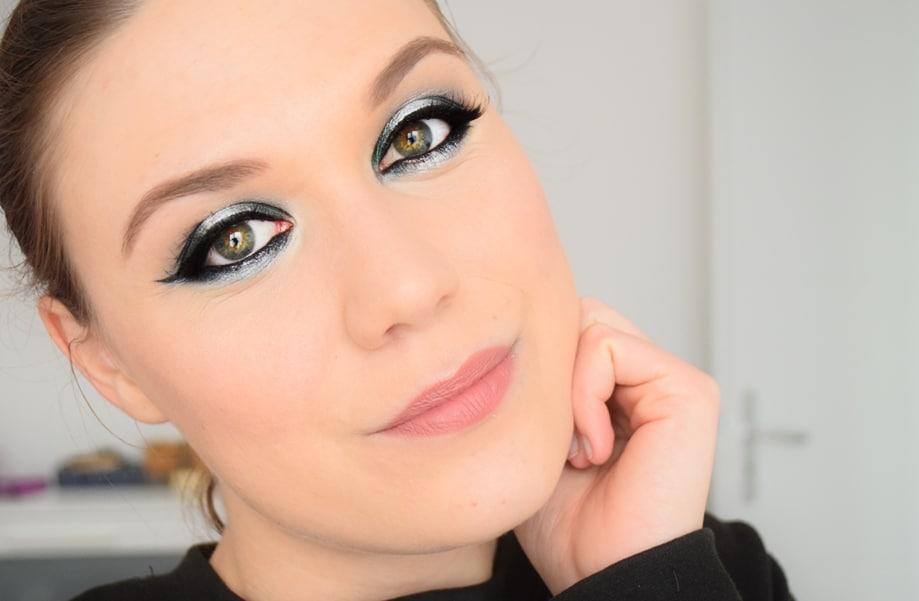 tutoriel maquillage argent