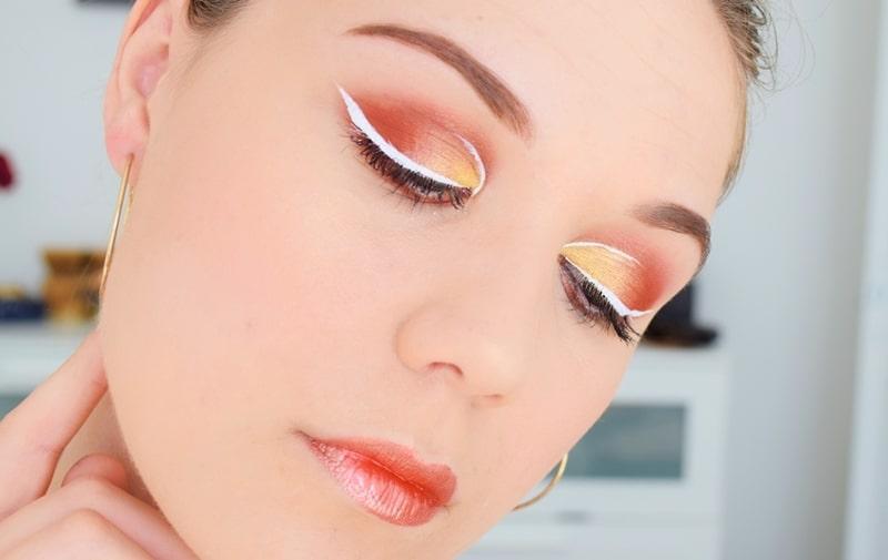 tutoriel eye liner blanc