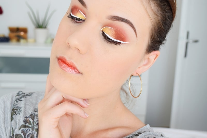 tutoriel eye liner blanc