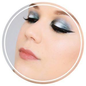 tutoriel maquillage bleu argent