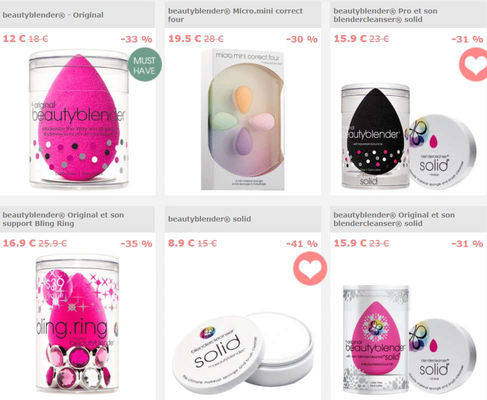 Beauty blender bon plan 9aout