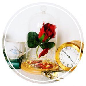 Diy rose enchantée belle et la bête